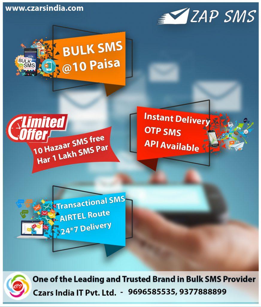 Bulk Sms Services | Czars India IT Pvt  Ltd